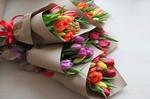 Кулек тюльпанов
